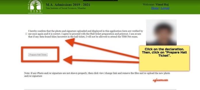 TISS Admit Card 2019