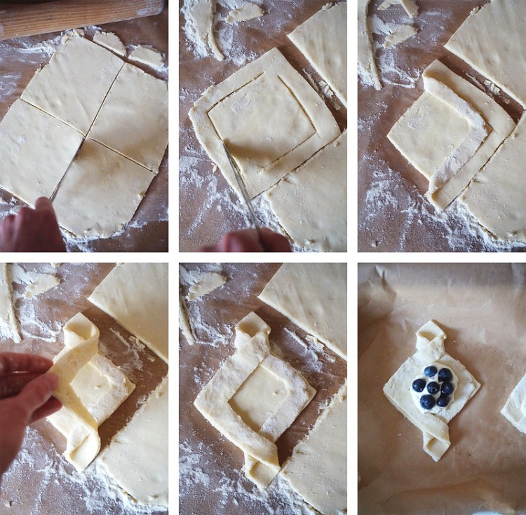 How to make gluten free cream cheese and berries Danish pastries