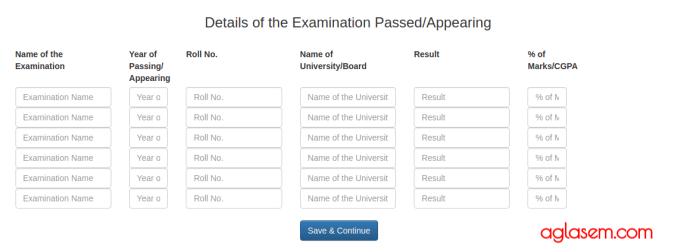 2019 Application Form for AMU Law Entrance Exam