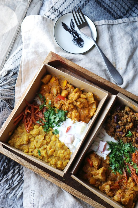 Indian curries from The Lucky Rabbit food stall in Nags Head Market | Gluten Free Finsbury Park Guide