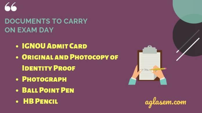 Important Documents to Carry on IGNOU OPENMAT Exam Day