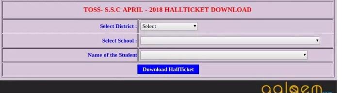 Telangana Open 10th Hall Ticket 2019