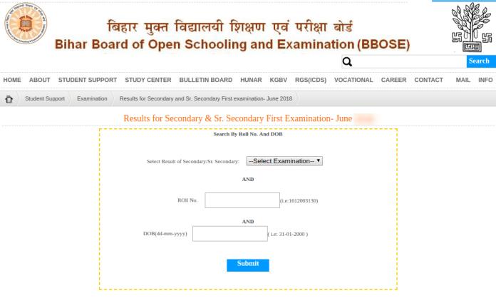 Bihar Open 12th Result 2019