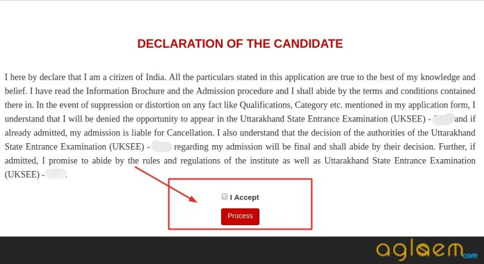 UKSEE 2019 Declaration of the candidate