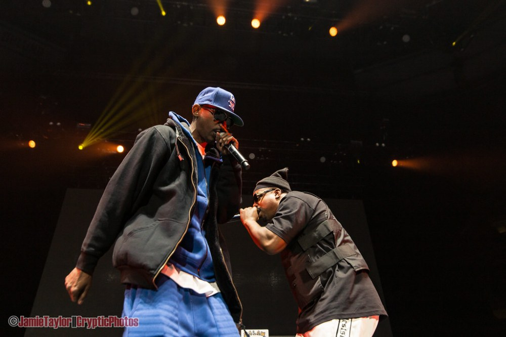 Rap duo Tha Dogg Pound featuring Kurupt and Daz Dillinger performing at Rogers Arena in Vancouver, BC on February 22nd 2019