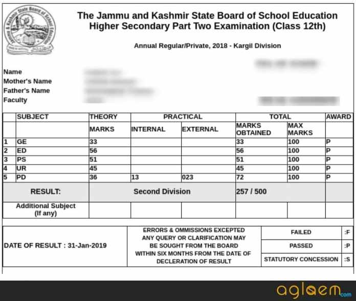 JKBOSE Announces Class 12 Result 2018 for Kargil Division