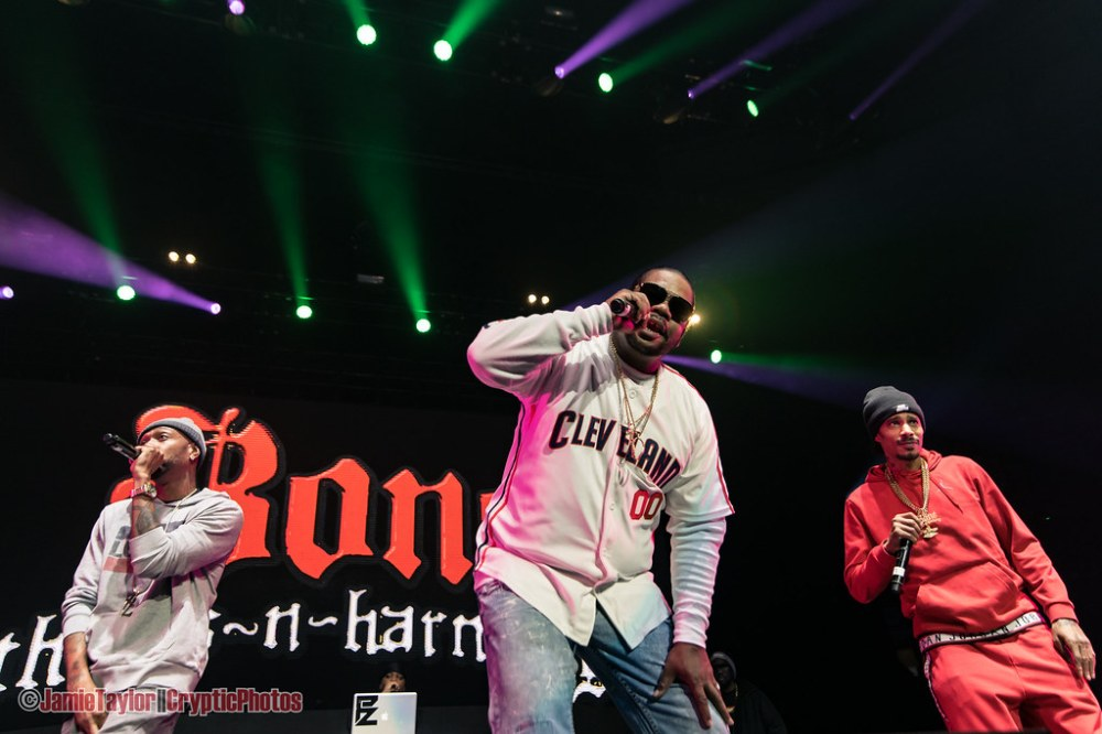 American hip hop group Bone Thugs-N-Harmony performing at Rogers Arena in Vancouver, BC on February 22nd 2019, featuring Wish bone and Layzie Bone and Krayzie Bone