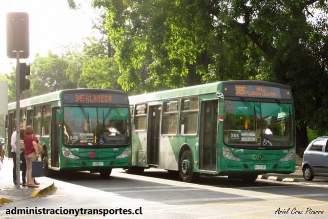 Transantiago 345 / 385 | Buses Vule | Caio Mondego H - Mercedes Benz / CJRX57 - CJRZ67