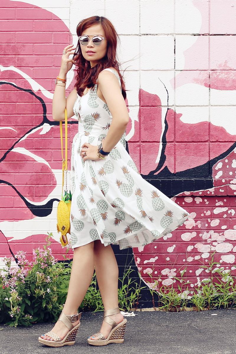 zaful pineapple print dress