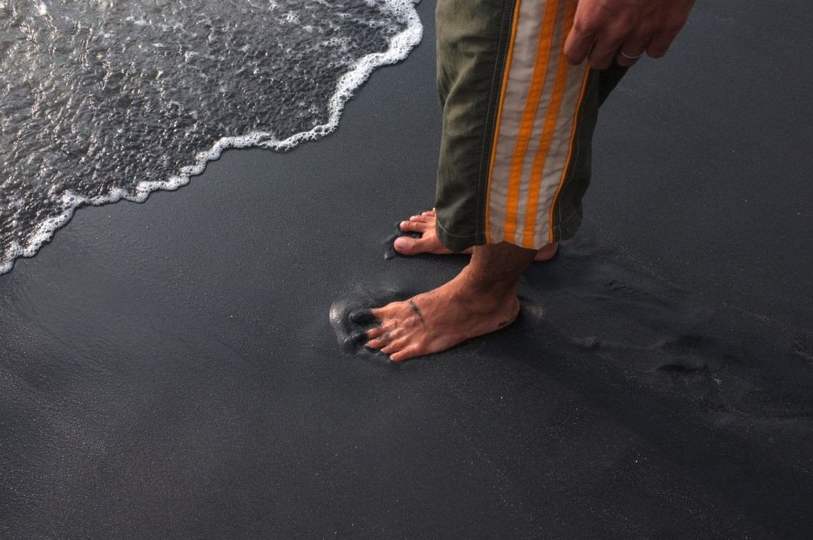the black sand... i love it!