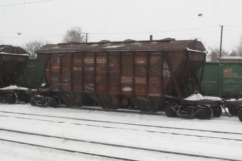 Ukrainian Railways grain wagons