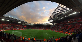 Sunset at Anfield