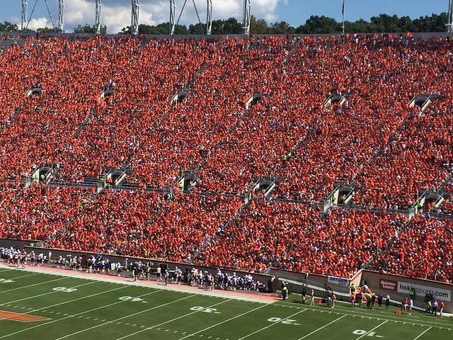 Virginia Tech ECU orange effect