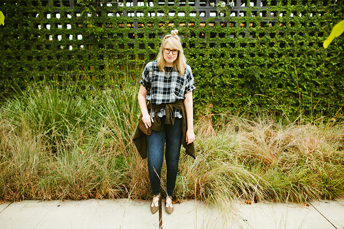 writes like a girl madewell emporia plaid shirt fall outfit1