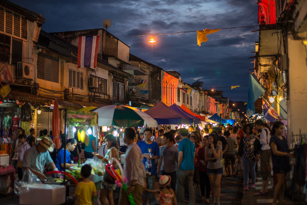 Sunday Night Market,Phuket Old Town,Thai