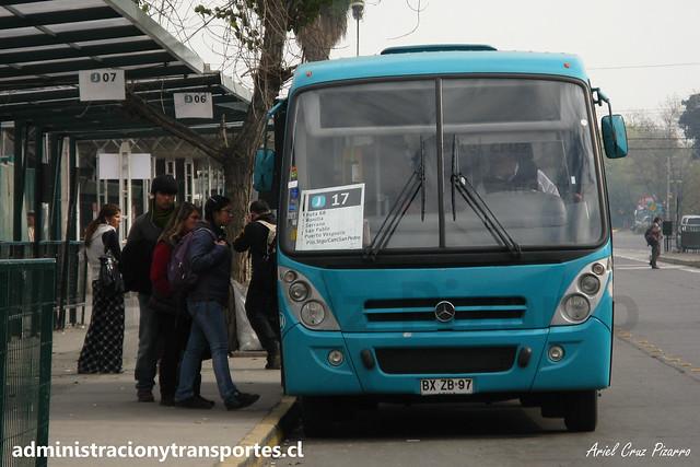 Transantiago | Comercial Nueva Milenio (Metbus) | Caio Foz - Mercedes Benz / BXZB97