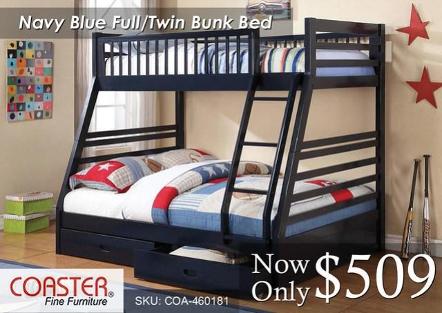 Navy Blue Coaster Full-Twin