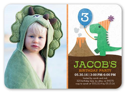 party dinosaur 5x7 boy birthday invitations shutterfly