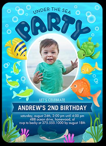 oceanic party 5x7 stationery boy birthday invitations shutterfly