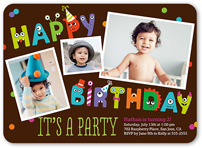monster birthday invitations shutterfly