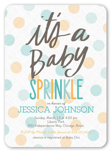 Baby Sprinkle Boy Baby Shower Invitations Shutterfly