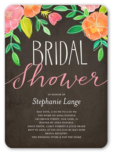 Printed Garden 5x7 Bridal Shower Invitations Shutterfly