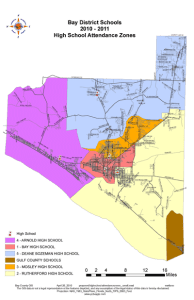 Panama City Florida High School Zone Map