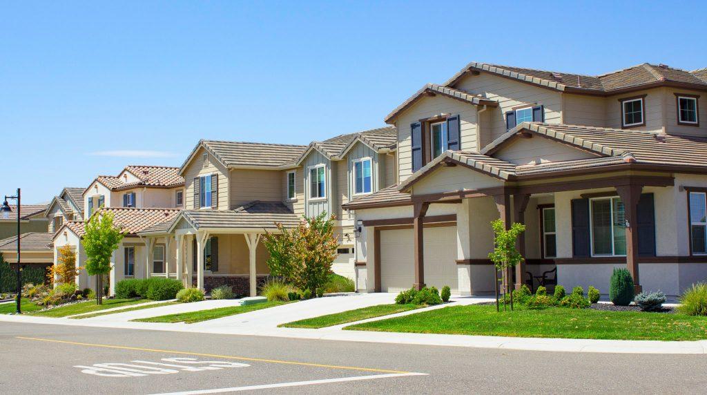 suburban homes in southern california