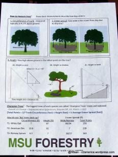 Leaflet tentang pengukuran.