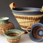 Stephen Kostystyn ceramic basket vessels