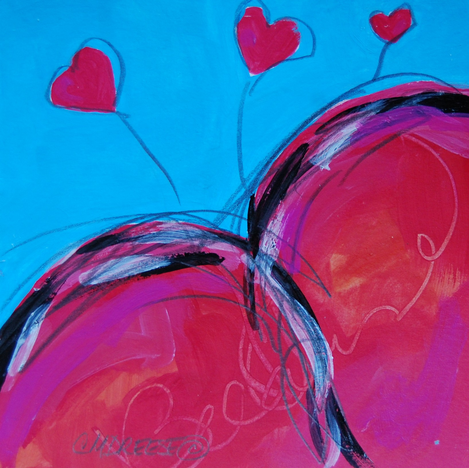 Christi Dreese's Valentines paintings