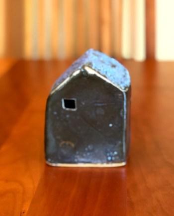 Small Blue Ceramic House by Cyndi Casemier
