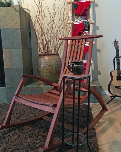Handmade rocking chair and mug