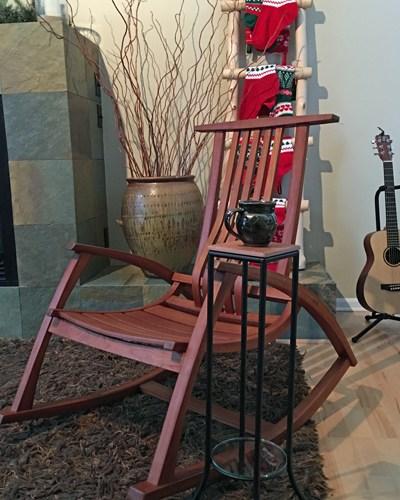 Handmade rocking chair and mug