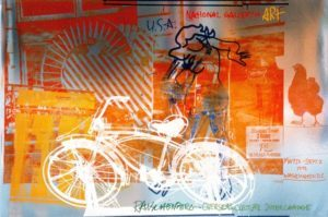"""Bicycle, National Gallery"" 1992 foil print limited edition"