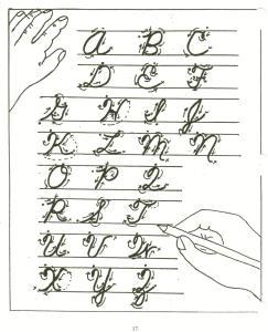 cursive handwriting.