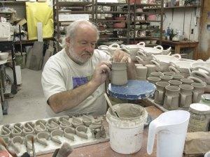 Robin Hopper making pots