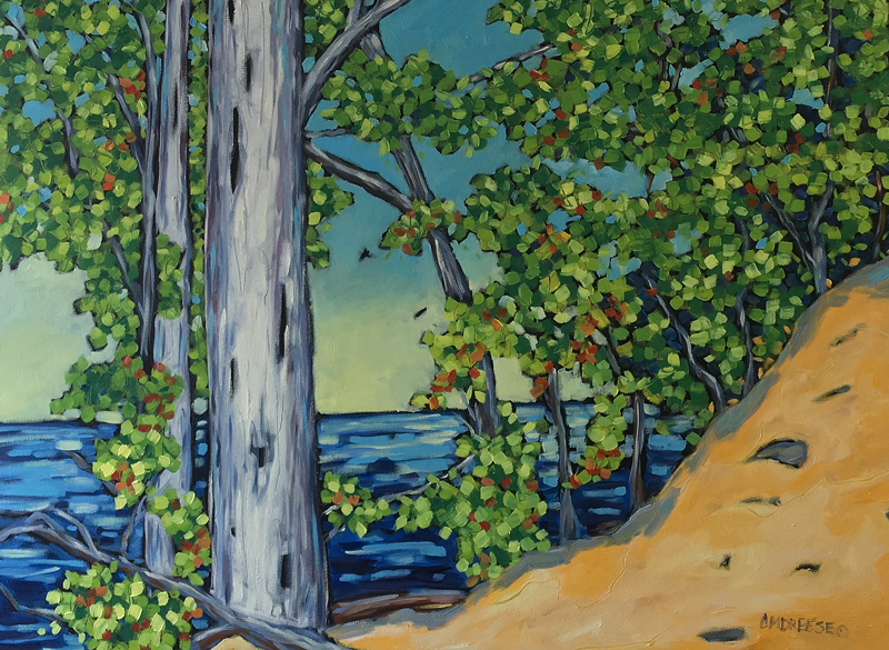 Beach Landscape oil painting by Christi Dreese