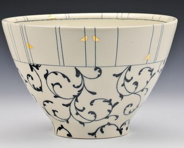 Melissa Mencini pottery serving bowl