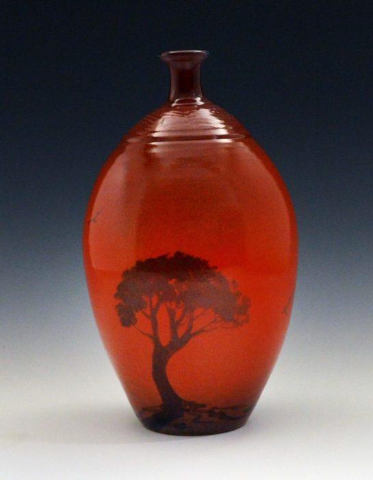 Red Bottle Form by Glen Blakley