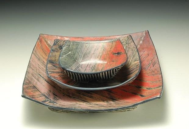 Lana Wilson set of ceramic plates