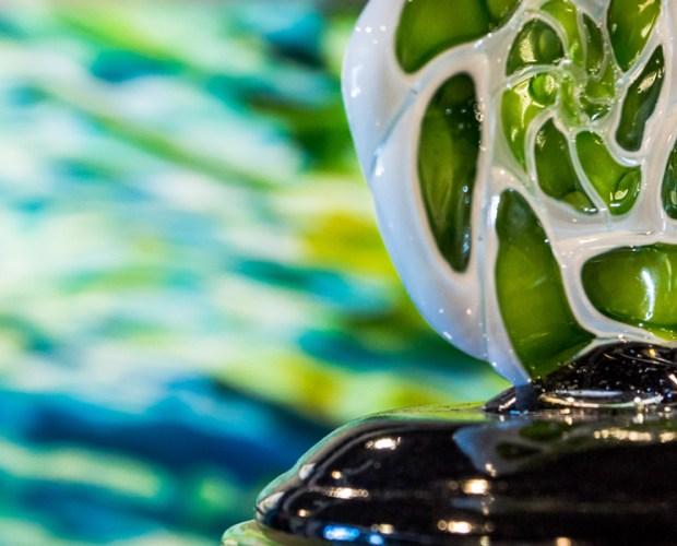 close up of Eli Zilke's glass knob