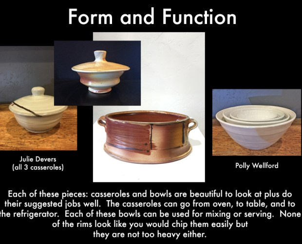 bowls and casseroles