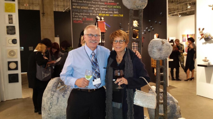 Mark Chatterley and Cyndi Casemier at Chicago's Navy Pier SOFA Event