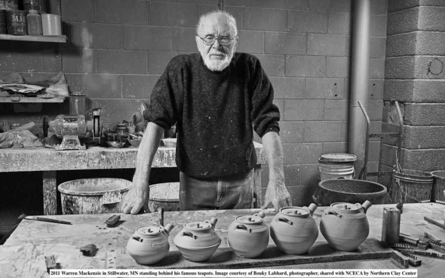 Warren MacKenzie in his studio