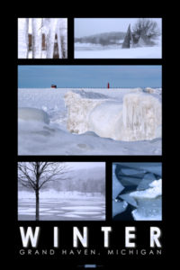 Winter in grand haven poster