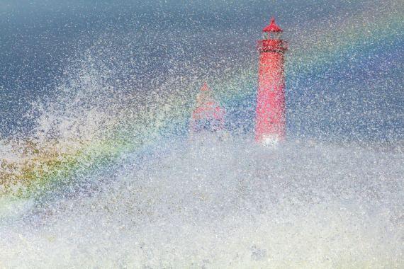 photograph by bob walma - rainbow pier