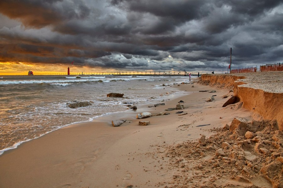 Grand haven michigan lighthouse and beach