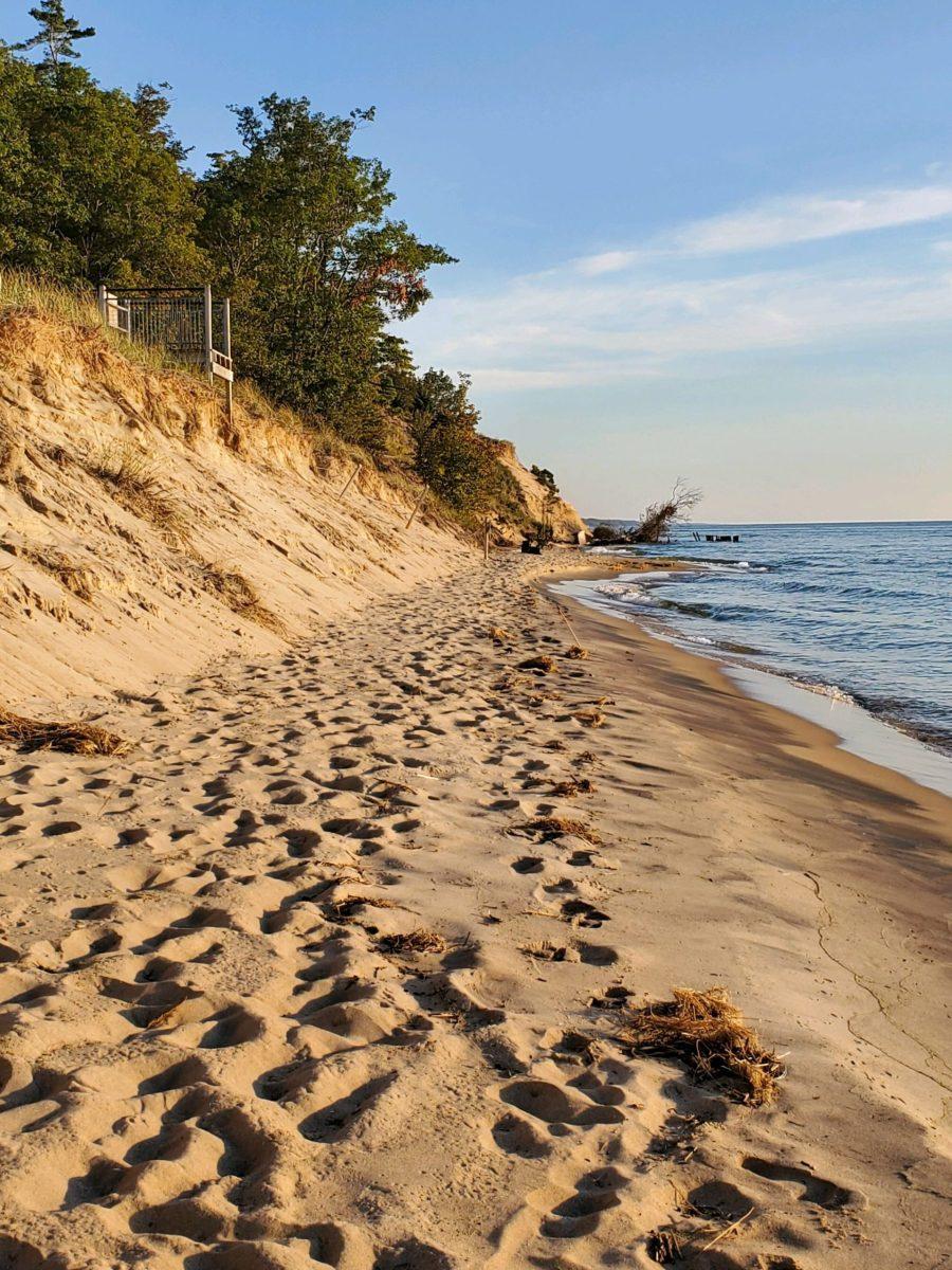 Buchanan Beach, Ottawa County, on Lake Michigan