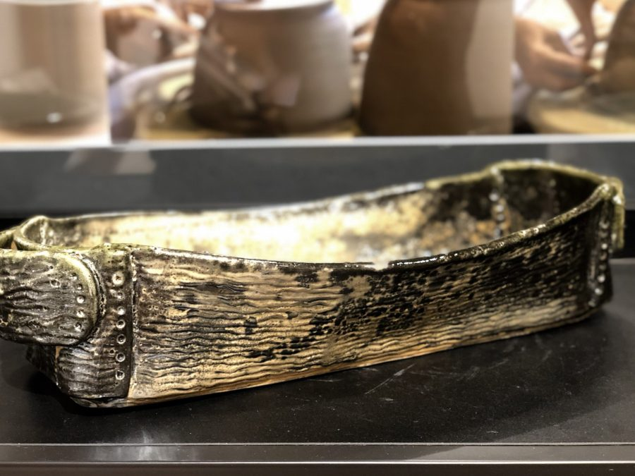 Ceramic boat made in porcelain by Cyndi Casemier